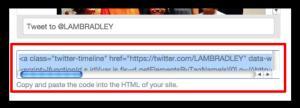Twitter HTML code