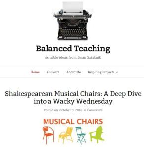 Balanced Teaching musical chairs