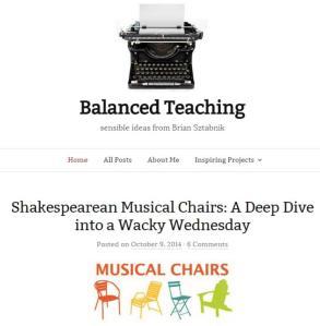 Balanced Teaching musical chairs