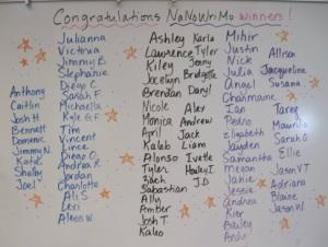 NaNoWriMo winners, 2011.